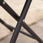 Kingfisher FSDT Table d'appoint pliante pour le jardin ou la terrasse Noir de la marque Kingfisher image 4 produit