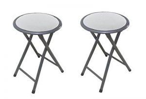 La Chaise espagnole Palma Pack de tabourets pliables à bulles, aluminium, blanc, 30x 30x 45cm, lot de 2 de la marque La Silla Española image 0 produit
