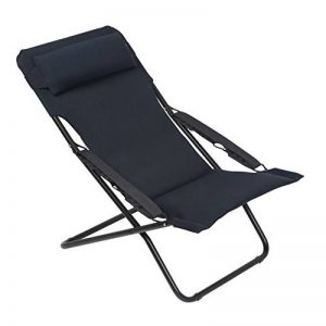 Lafuma Chaise longue, Pliable et réglable, Transabed, Air Comfort, Couleur: Acier, LFM2459-6135 de la marque Lafuma image 0 produit