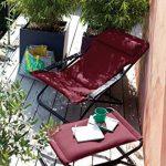 Lafuma Chaise longue, Pliable et réglable, Transabed, Air Comfort, Couleur: Acier, LFM2459-6135 de la marque Lafuma image 2 produit