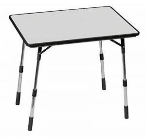 Lafuma Table de camping, 80 x 57 cm, Pliable, Hauteur réglable, Étanche, Mayotte, Couleur: Carbon, LFM1488-3631 de la marque Lafuma image 0 produit