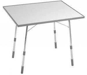 Lafuma Table de camping pliante, Hauteur réglable, 91 x 69 cm, Étanche, California, Couleur: Gris Clair, LFM1491-8581 de la marque Lafuma image 0 produit