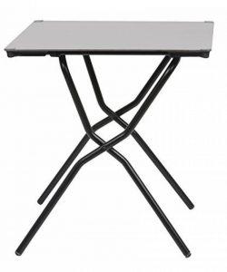 Lafuma Table de jardin carrée, 68 x 64 cm, 2 places, Pliable, Protection intempéries, Anytime, Couleur: Stone, LFM2781-7237 de la marque Lafuma image 0 produit