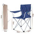 LE chaise plein air/pliantes camping/Ultralight/Compact plage/avec accoudoir/porte-gobelet, pour/Camping Randonnée Plage Pêche Jardin de la marque LE chaise image 1 produit