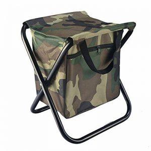 Lezed Tabouret en plein air,Camouflage Chaise pliante,Avec tiroir de rangement,Chaise portative,Chaise de pêche sportive,Tabouret de voiture,Chaise pliante,Tabouret casual en toile (camouflage) de la marque Lezed image 0 produit