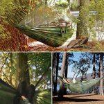 Lhedon Hamac avec moustiquaire, Portable en nylon Hamac Hamac double de camping avec sangles d'arbre pour randonnée, camping, randonnée, Voyage, plage, cour de la marque Lhedon image 5 produit