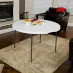 Lifetime 80508 Lot de 2 Table Ronde Pliante, Blanc, 122 x 122 x 74 cm de la marque Lifetime image 2 produit