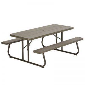 Lifetime Table de pique nique pliante Marron 183 x 76 x 73,7 cm 60112 de la marque Lifetime image 0 produit