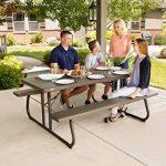 Lifetime Table de pique nique pliante Marron 183 x 76 x 73,7 cm 60112 de la marque Lifetime image 4 produit