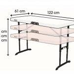 Lifetime Table pliante réglable Beige 122 x 61 x 91,4 cm 80522 de la marque Lifetime image 3 produit