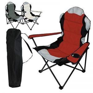 Linxor France ® Chaise de camping pliable + Sac de transport - 3 Coloris - Norme CE - Rouge de la marque Linxor image 0 produit