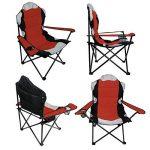 Linxor France ® Chaise de camping pliable + Sac de transport - 3 Coloris - Norme CE - Rouge de la marque Linxor image 1 produit