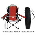 Linxor France ® Chaise de camping pliable + Sac de transport - 3 Coloris - Norme CE - Rouge de la marque Linxor image 2 produit