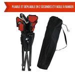 Linxor France ® Chaise de camping pliable + Sac de transport - 3 Coloris - Norme CE - Rouge de la marque Linxor image 3 produit
