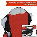 Linxor France ® Chaise de camping pliable + Sac de transport - 3 Coloris - Norme CE - Rouge de la marque Linxor image 5 produit
