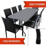 Linxor France ® Table de camping pliable avec poignée (L) 184 x (l) 76 x (H) 74 cm - 4 coloris - Norme CE - Gris anthracite de la marque Linxor image 4 produit