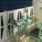 LJHA Table pliante Etagères de balcon en fer Garde-corps étagère murale suspendue Support de rangement pour jardinières Windowsill Support de fleurs et table occasionnelle 4 couleurs disponibles 650 * 730mm table ( Couleur : B ) de la marque GYH zhuozi image 1 produit