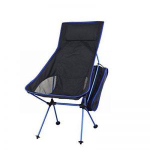 Lokep Nouvelle version Portable ultraléger Heavy Duty en alliage d'aluminium 7075Aircraft extérieur de chaise pliable Chaise de camping Tabouret Chaise de pêche pliante 149,7kilogram Roulement avec oreiller + Sac de transport pour la randonnée de p image 0 produit