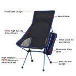 Lokep Nouvelle version Portable ultraléger Heavy Duty en alliage d'aluminium 7075Aircraft extérieur de chaise pliable Chaise de camping Tabouret Chaise de pêche pliante 149,7kilogram Roulement avec oreiller + Sac de transport pour la randonnée de p image 4 produit