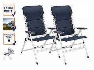 Lot de 2chaises de camping XXL rembourré–pliable et léger–Fauteuil relax stable avec confort de la marque Campart Travel image 0 produit