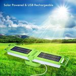 Lumière solaire portative, Lanterne de camping solaire LED pliable 3 modes d'éclairage avec 24 LED, Alimenté par panneau solaire et charge légère USB Convient pour les urgences, la randonnée, le camping ou l'éclairage intérieur de la marque Amforo image 1 produit