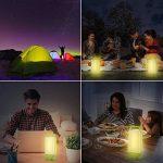 Lumière solaire portative, Lanterne de camping solaire LED pliable 3 modes d'éclairage avec 24 LED, Alimenté par panneau solaire et charge légère USB Convient pour les urgences, la randonnée, le camping ou l'éclairage intérieur de la marque Amforo image 4 produit