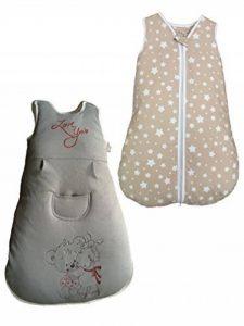 Madouck Gigoteuse bébé: 100% de coton, fermeture zippée à deux curseurs, 2,5 TOG, 0-6 Mois, 6-18 Mois, Brodé, Beige, Gris, Fille et Garçon de la marque Madouck image 0 produit