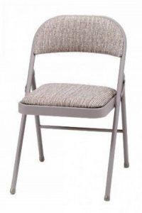 MECO Deluxe Chaise pliante en acier avec rembourrage en tissu–Marron de la marque MECO image 0 produit