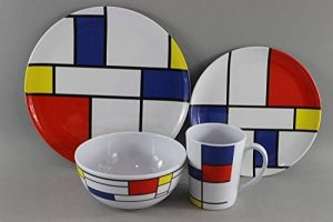 Melamine Set De Stijl - 16pc 100% Melamine Dinner Set For Caravan Camping by Leisurewize de la marque Leisurewize image 0 produit