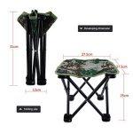 Mini Chaise Pliante Siège Tabouret Pliable Léger Portable avec Sac de Rangement pour Camping Pêche Escalade Randonnée - Couleur Camouflage de la marque VGEBY image 3 produit