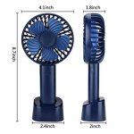 Mini Ventilateur de Poche Electrique USB Ventilateur à main de Bureau avec Boîte d'aromathérapie 2200mAh Batterie au lithium-ion.(bleu foncé) de la marque Fanzhou image 3 produit