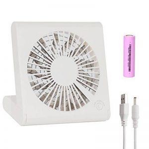 """Mini ventilateur rechargeable USB portable - Ventilateur silencieux électrique ultra doux de 135 degrés (BLANC 5 """") de la marque QHYK image 0 produit"""