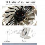 """Mini ventilateur rechargeable USB portable - Ventilateur silencieux électrique ultra doux de 135 degrés (BLANC 5 """") de la marque QHYK image 2 produit"""
