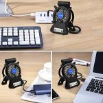 Mini Ventilateur USB de Bureau, Rechargeable LED Fan, Taotuo Ventilateur de Table avec 3 Modes Rotation à 270° pour Poussette Voiture Camping de la marque Taotuo image 1 produit