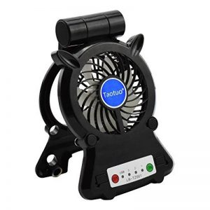 Mini Ventilateur USB de Bureau, Rechargeable LED Fan, Taotuo Ventilateur de Table avec 3 Modes Rotation à 270° pour Poussette Voiture Camping de la marque Taotuo image 0 produit