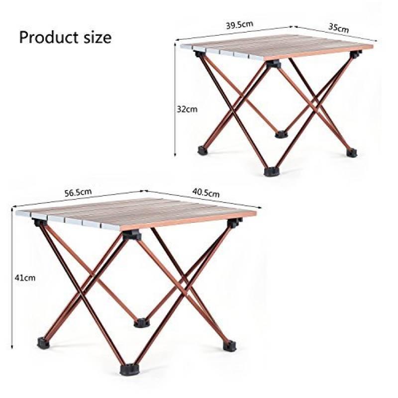 Table Roll Up Portable Avec Sac De Transport Pour Lextérieur