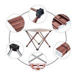 Movaty table multifonctions pliant léger pliable table de camping portable avec sac de transport pour le camping de pique-NIC, petite et grande taille, brun et blanc, alliage d'aluminium de la marque Movaty image 2 produit