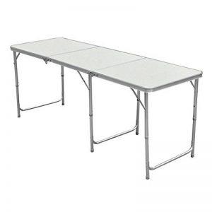 Myifan utilitaire 4/1,8m Table pliante en aluminium Portable Pliable Table avec poignée de transport pour Garden Party de cuisine pique-nique Camping 1.8M/6Ft de la marque Myifan image 0 produit