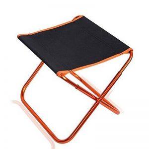 Nadalan Ultralight Aluminium portable pliant tabouret Mini chaise de pêche en toile carrée pour activités en plein air Camping, pêche, voyage, randonnée, jardin, plage de la marque Nadalan image 0 produit