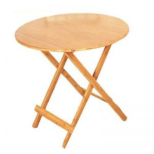 NAN Table snack pliante en bois naturel - Robuste et durable avec une finition en bois naturel et placage pour compléter n'importe quel décor - Pliable pour une utilisation rapide et facile ( taille : 65*77cm ) de la marque Folding table image 0 produit