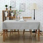 Nappe de Table Rectangulaire Décoration de Table Coton et Lin Gris Clair 135 x 180 cm de la marque Topmail image 4 produit