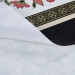 Nappe PVC Rectangulaire Antitache Imperméable Résistante à la Chaleur Durable Décoration de Table Motif de Chemin de Table Beige 137x220cm de la marque Topmail image 4 produit