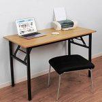 Need Bureau 120x60cm Table traiteur pliante Table Informatique Table buffet camping pliable Bureau de réception, Teck Chêne Couleur de la marque Need image 1 produit