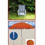 Neuf-plage-holly sTABIELO de plage pliable-coloris aZURO-voyage-parasol-sTABIELO hollysunny ® la plage fREIZEITSCHIRM eINDREHBARER parasol cAMPING léger de haute protection anti-uV de couleur rouge chaise pliante sTABIELO-holly-sunshade ®-sAISONARTIKEL du image 1 produit