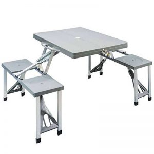 OEM 047625 - Table portable et pliable avec chaises pour pique-nique, camping ou barbecue de la marque REDCLIFFS image 0 produit