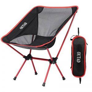 OUTAD Chaise Pliable Portable en Alliage d'aluminium pour Camping / Randonnée / Pêche / Plage / Jardin (Charge de Poids 150kg) de la marque OUTAD image 0 produit
