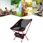 OUTAD Chaise Pliable Portable en Alliage d'aluminium pour Camping / Randonnée / Pêche / Plage / Jardin (Charge de Poids 150kg) de la marque OUTAD image 1 produit