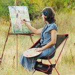 OUTAD Chaise Pliable Portable en Alliage d'aluminium pour Camping / Randonnée / Pêche / Plage / Jardin (Charge de Poids 150kg) de la marque OUTAD image 5 produit