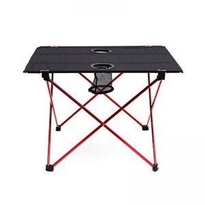Outry Table pliante légère avec porte-gobelet, Table de camp Portable de la marque Outry image 0 produit