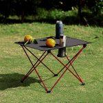 Outry Table pliante légère avec porte-gobelet, Table de camp Portable de la marque Outry image 1 produit